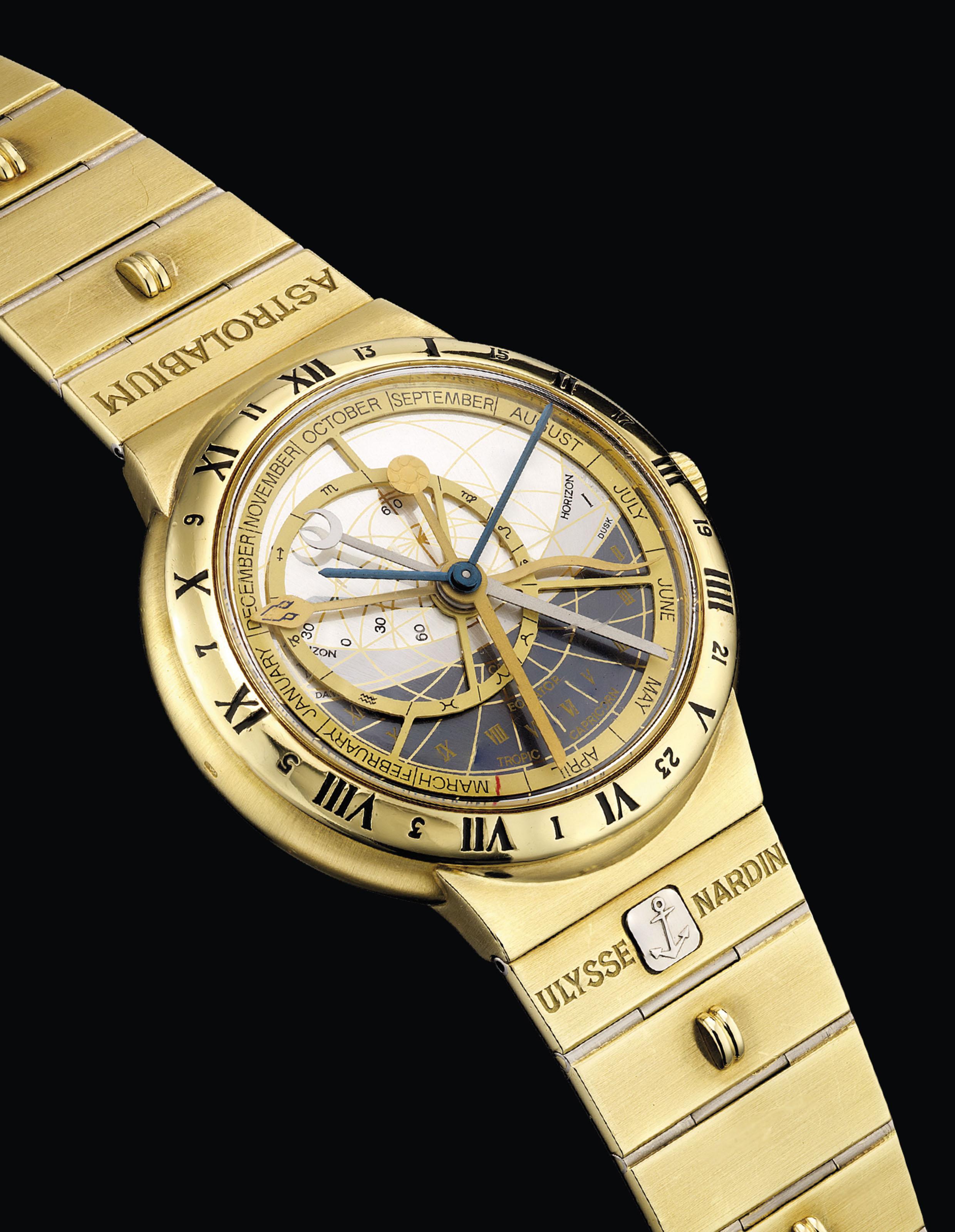 ULYSSE NARDIN. A FINE 18K GOLD