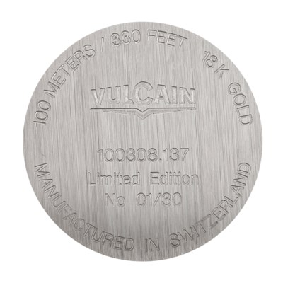 VULCAIN. A FINE 18K WHITE GOLD
