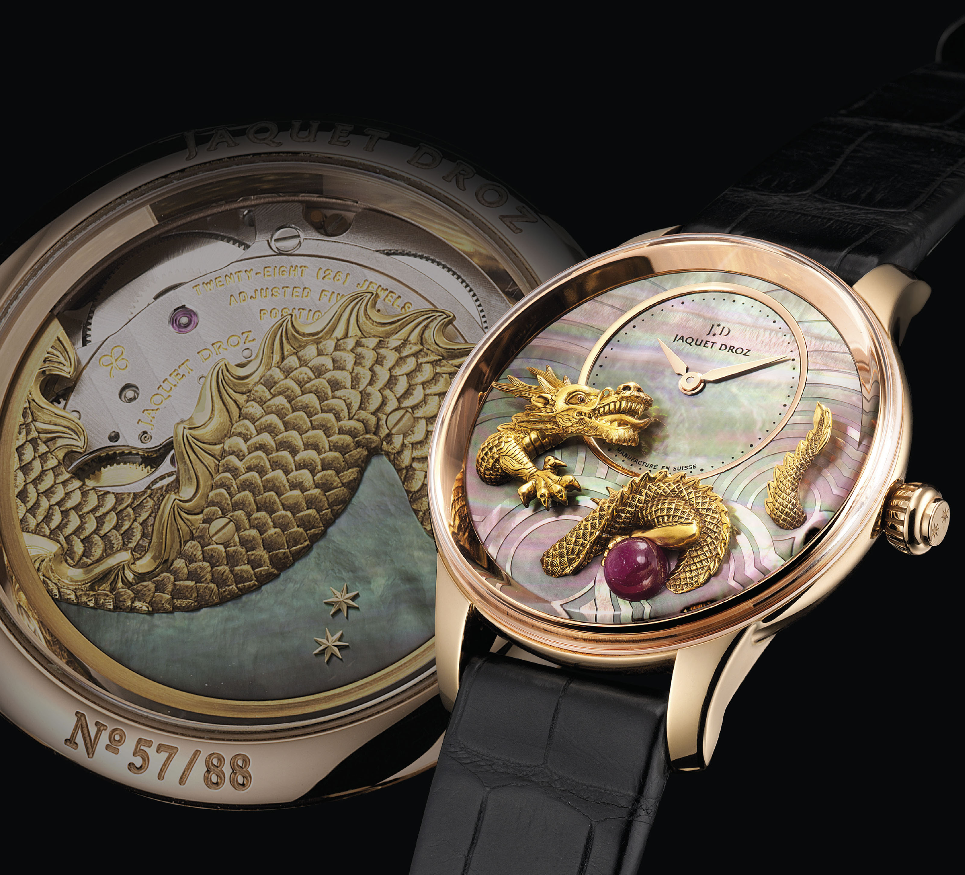 JAQUET DROZ. A VERY FINE AND R
