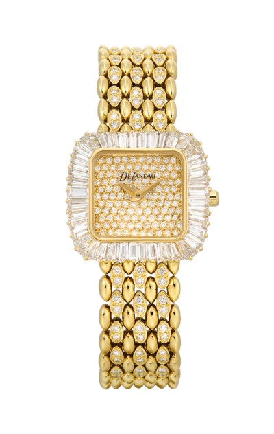 DELANEAU. A LADY'S 18K GOLD AN