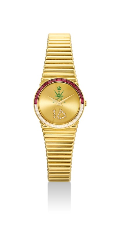 PIAGET. A FINE AND RARE 18K GO
