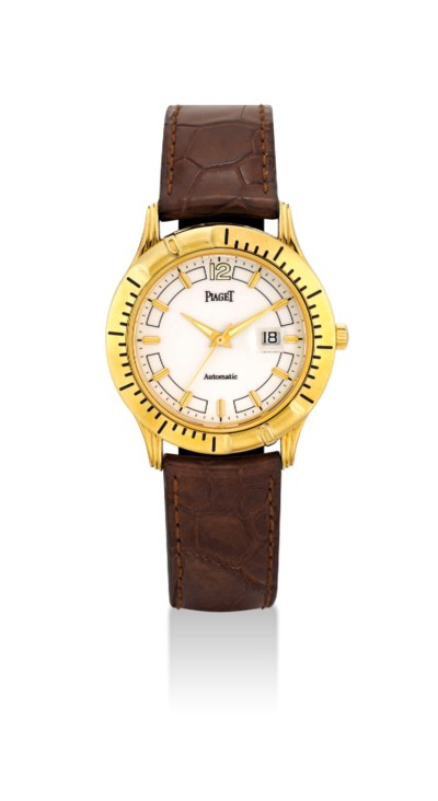 PIAGET. AN 18K GOLD AUTOMATIC