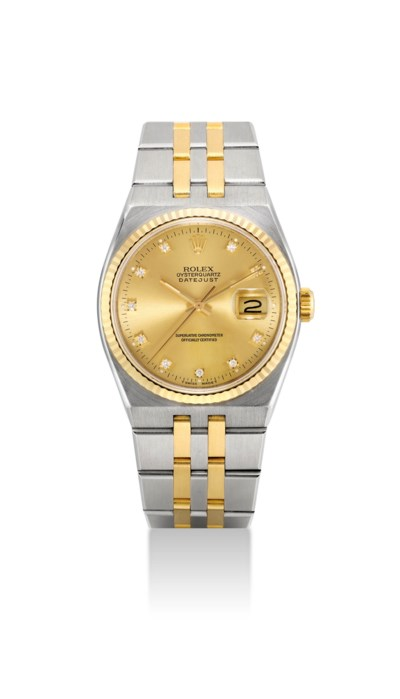 ROLEX. A STAINLESS STEEL, 18K