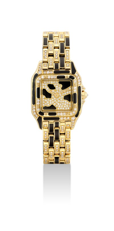 CARTIER. A LADY'S 18K GOLD, BL