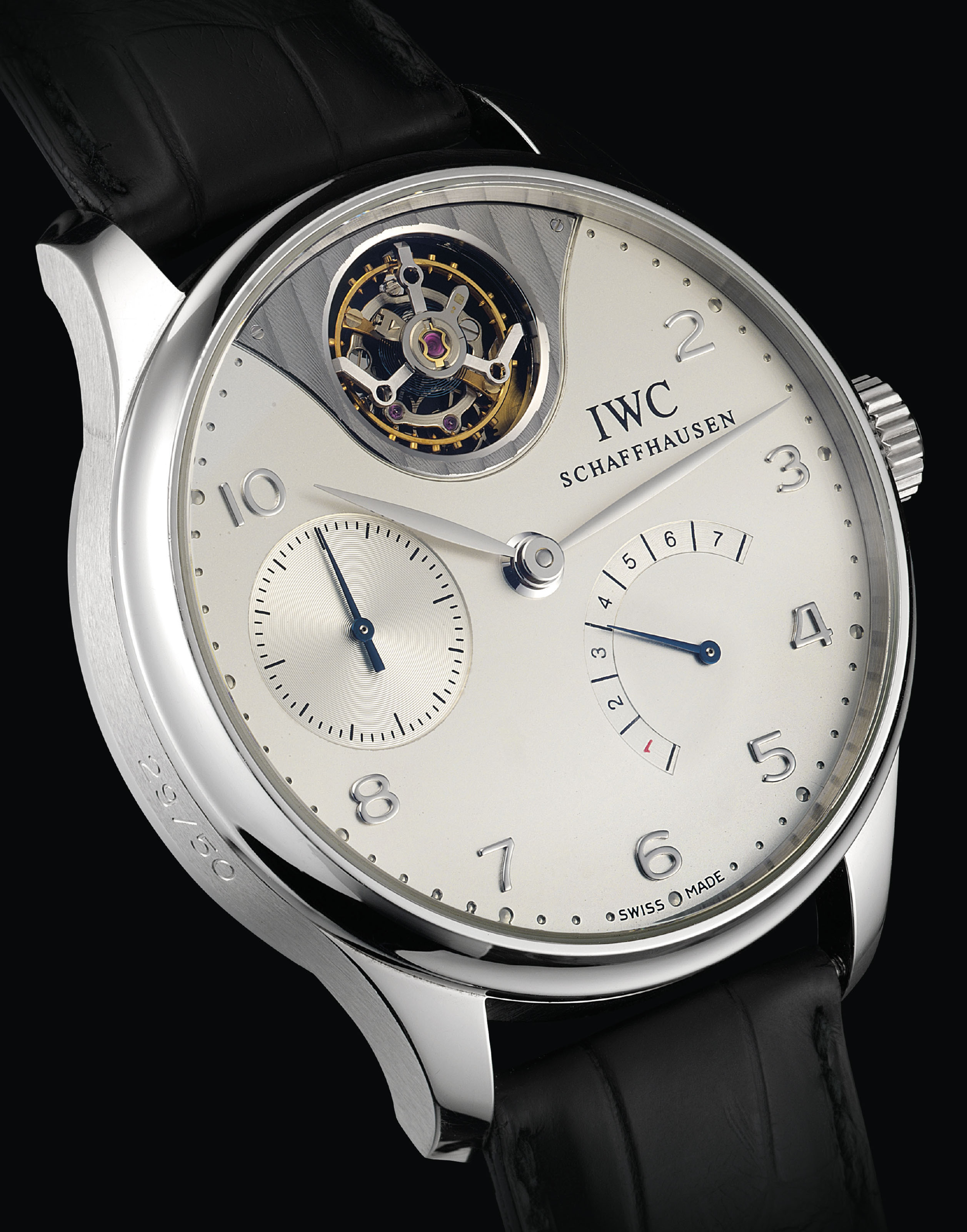 IWC. A FINE AND RARE PLATINUM