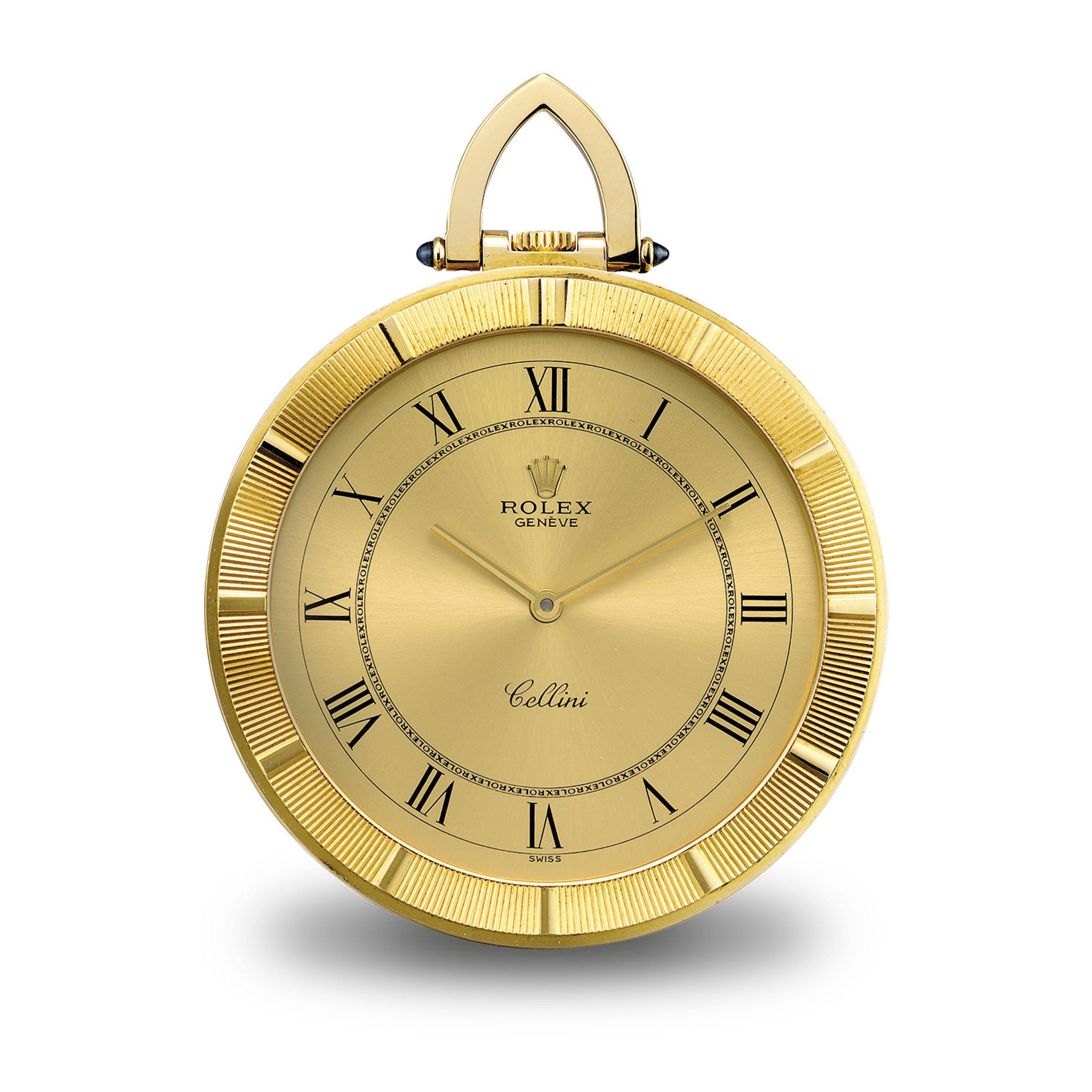 ROLEX. A FINE 18K GOLD OPENFAC