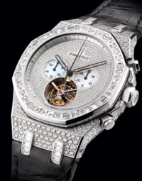 BREGUET. A FINE 18K GOLD SEMI-SKELETONISED WRISTWATCH WITH POWER RESERVE
