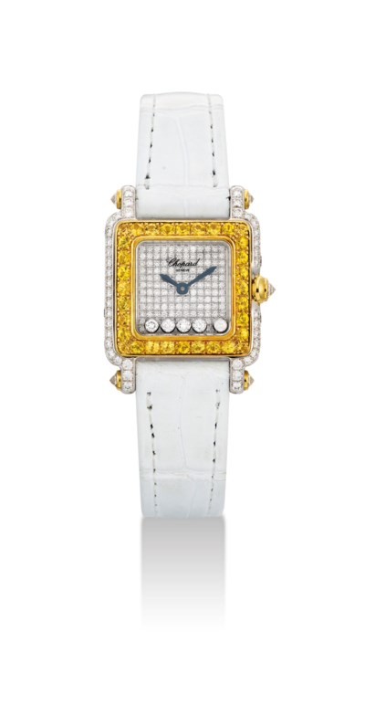 CHOPARD. A LADY'S 18K TWO-COLO