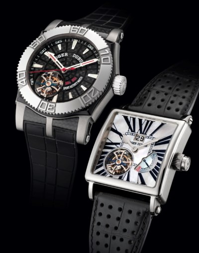 ROGER DUBUIS. A FINE AND RARE