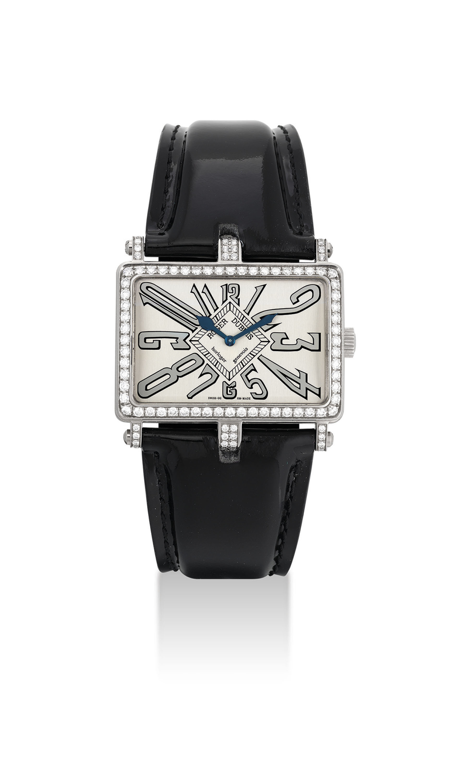 ROGER DUBUIS. A LADY'S 18K WHI