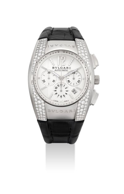 BULGARI. AN 18K WHITE GOLD AND