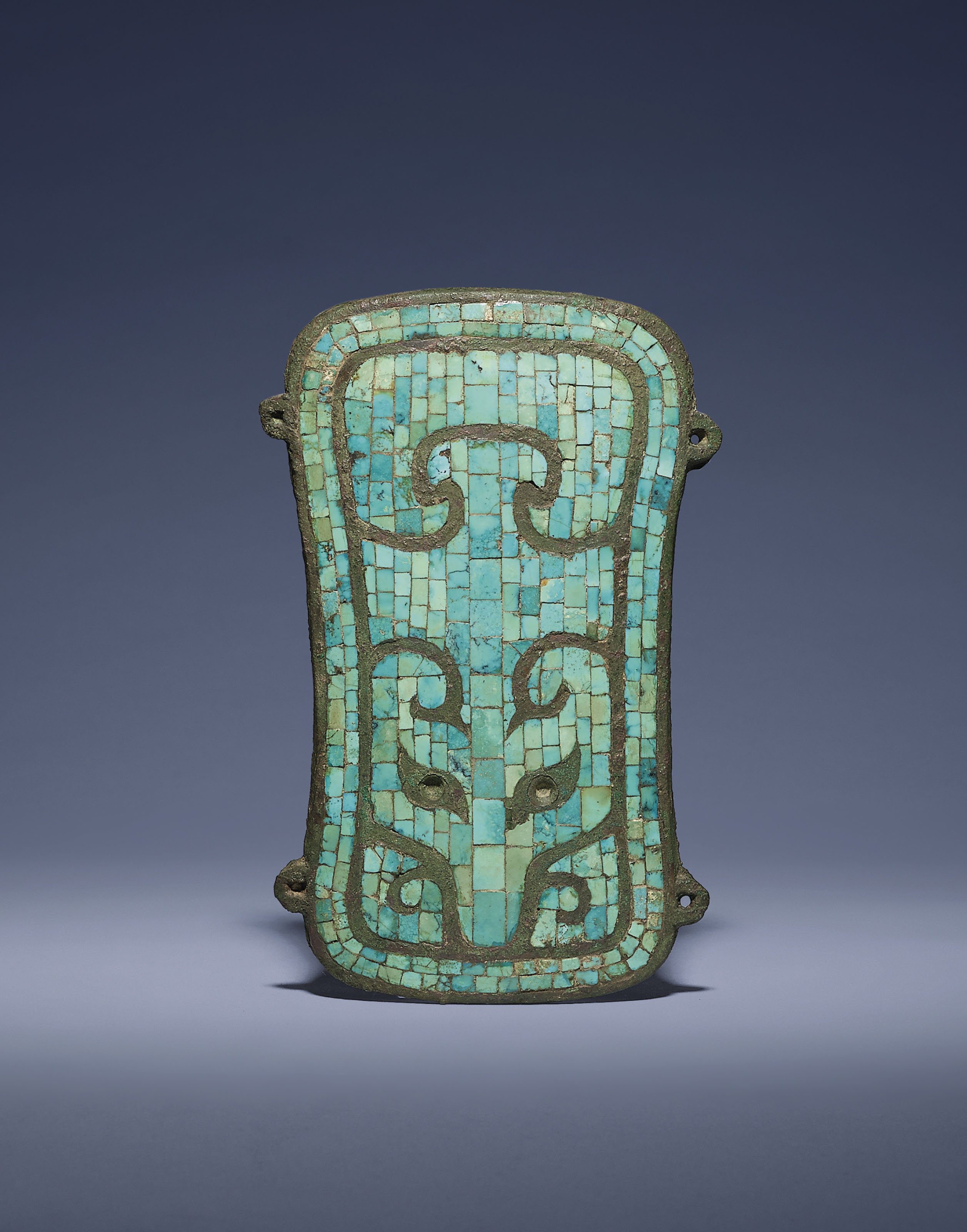 A VERY RARE TURQUOISE-INLAID B