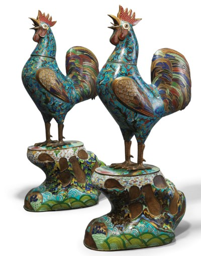 A MAGNIFICENT PAIR OF BRONZE A