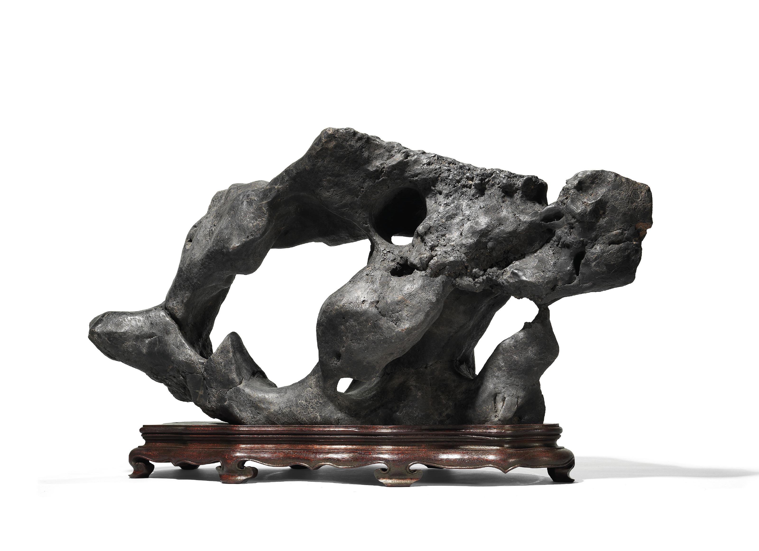 AN INSCRIBED SCHOLAR'S ROCK