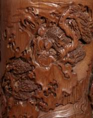 A SUPERBLY CARVED BAMBOO 'TIAN