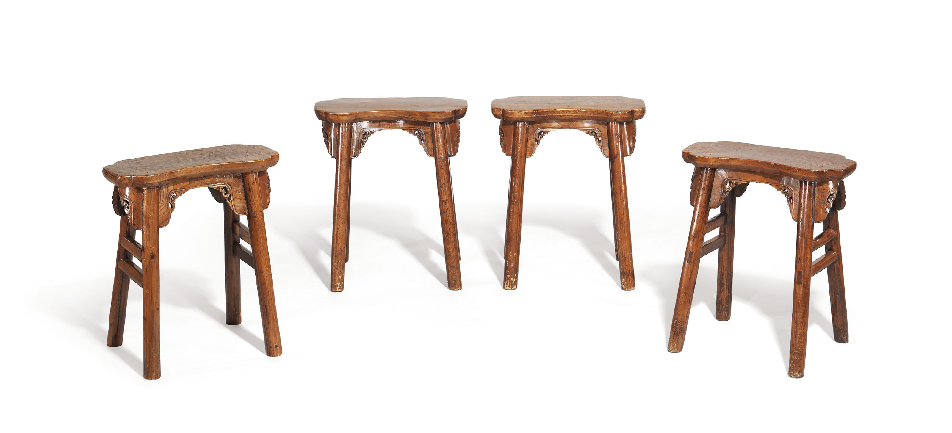 A RARE SET OF FOUR CYPRESS AND