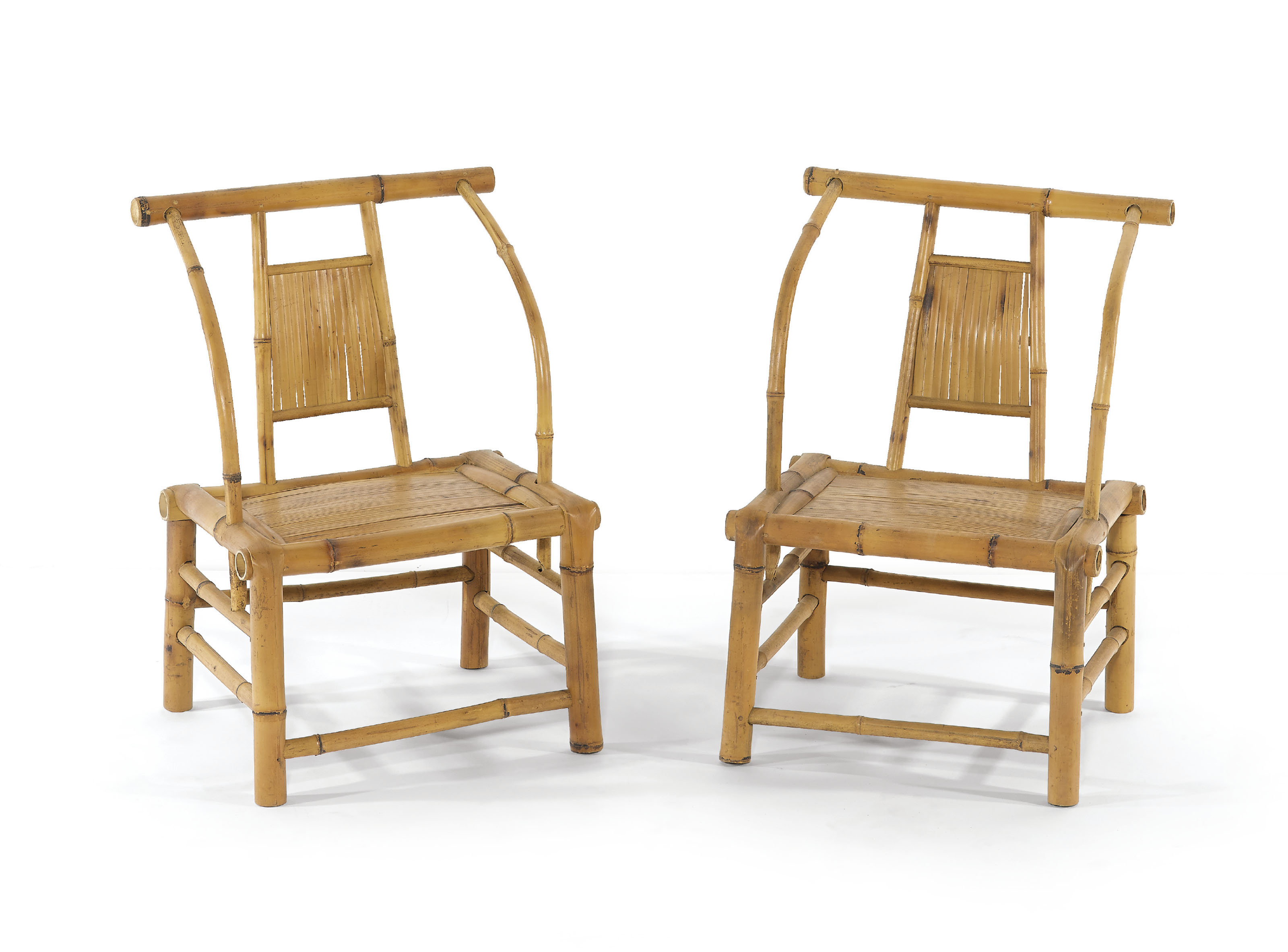 A PAIR OF CHILDREN'S BAMBOO AR
