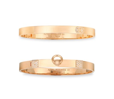 TWO DIAMOND & 18K ROSE GOLD PM