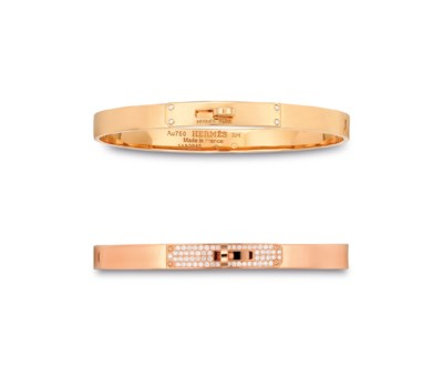 TWO DIAMOND & 18K ROSE GOLD KE