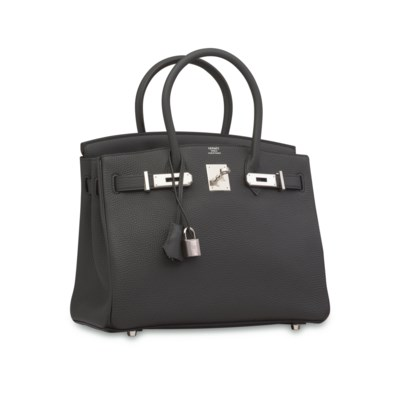 A PLOMB TOGO LEATHER BIRKIN 30