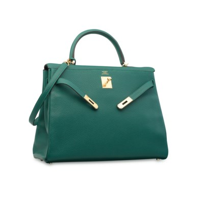 A MALACHITE CLÉMENCE LEATHER R
