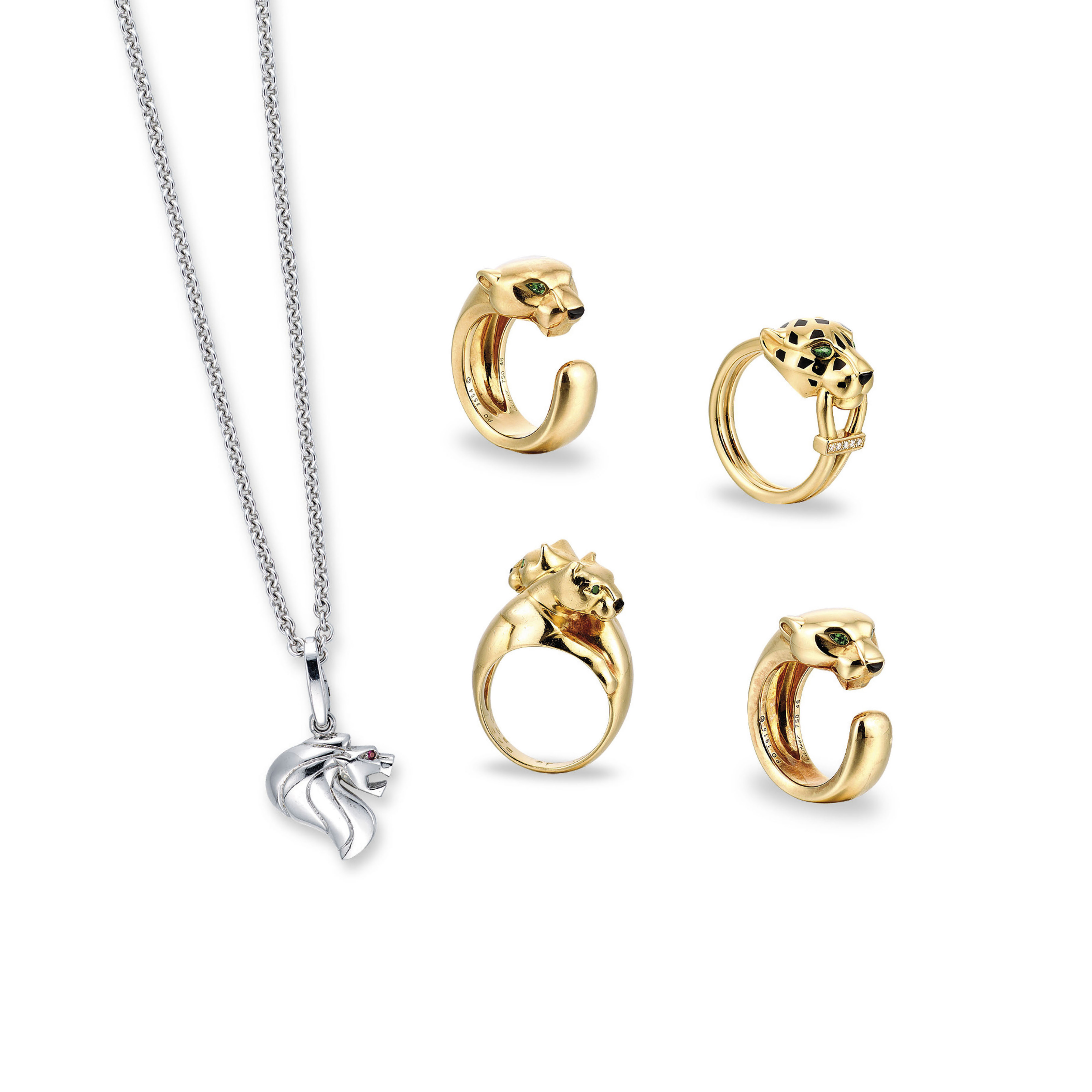 A Group Of Multi Gem Jewellery By Cartier Christie S