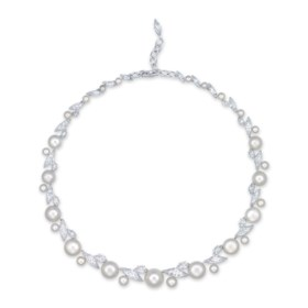 AN ELEGANT NATURAL PEARL AND DIAMOND NECKLACE, BY ETCETERA F