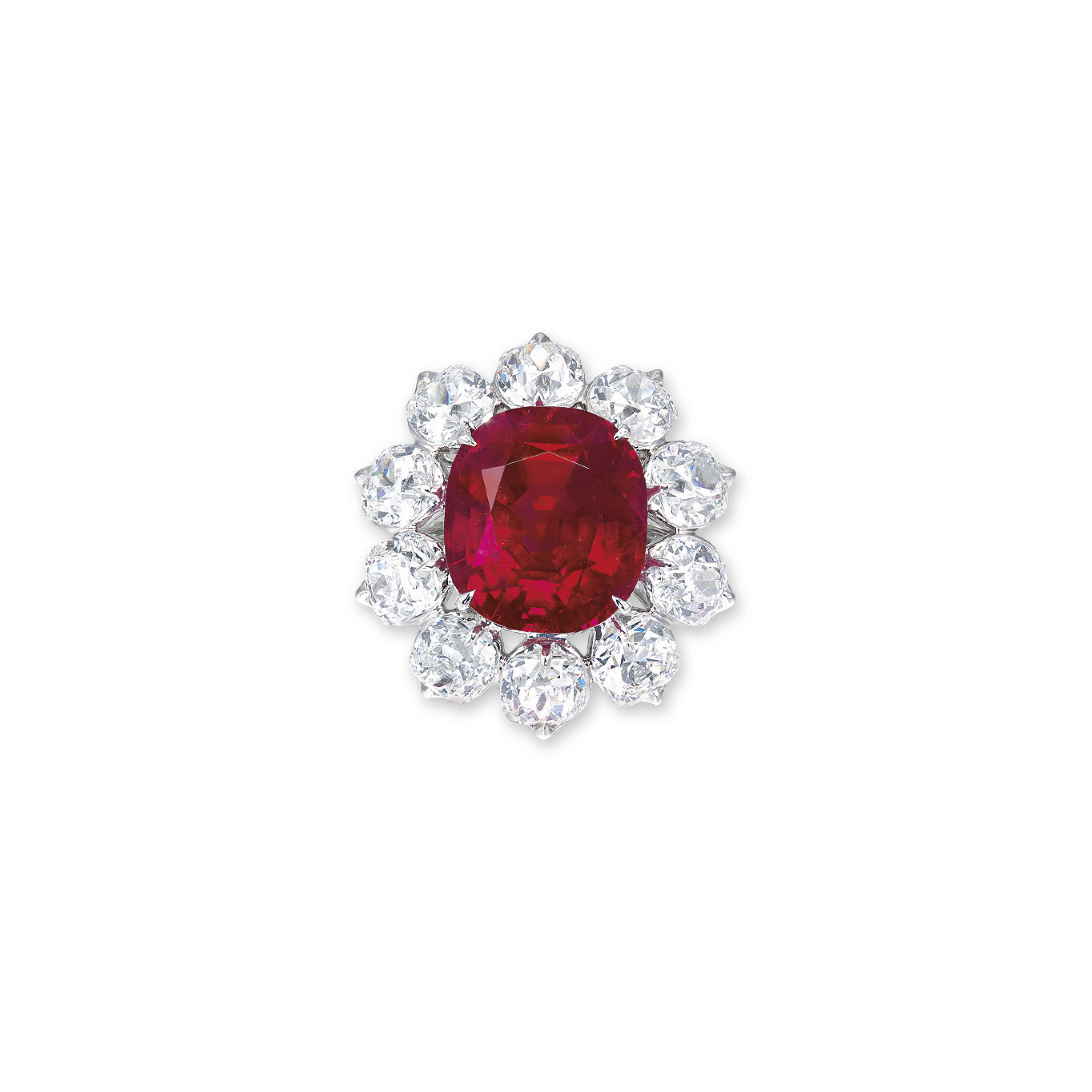 AN EXTRAORDINARY RUBY AND DIAMOND RING