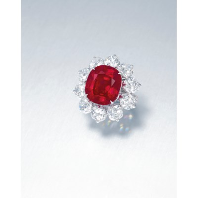 AN EXTRAORDINARY RUBY AND DIAM