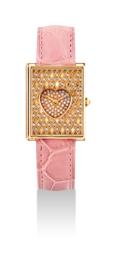 CORUM. A LADY'S 18K PINK GOLD