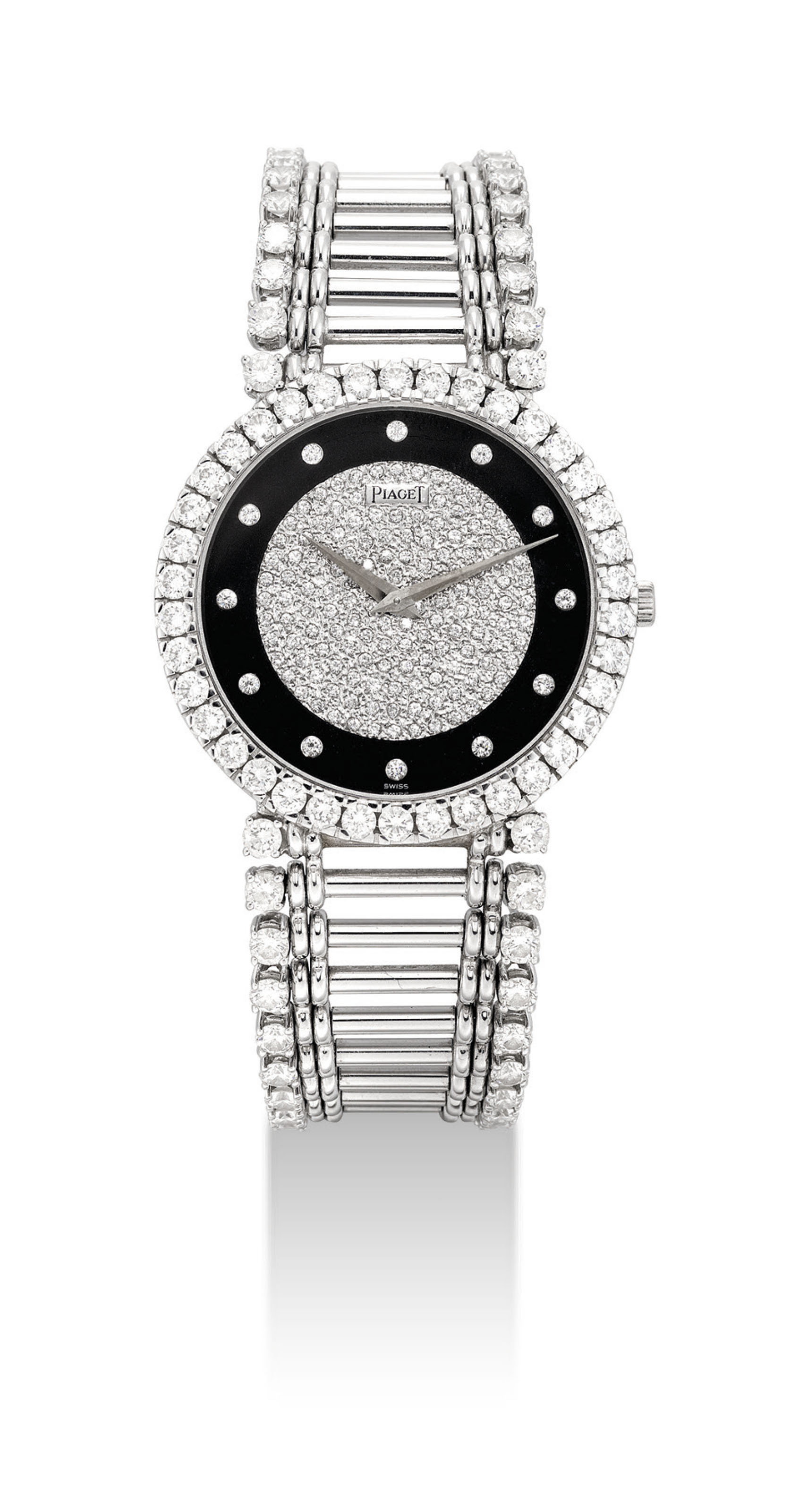 PIAGET. AN 18K WHITE GOLD AND