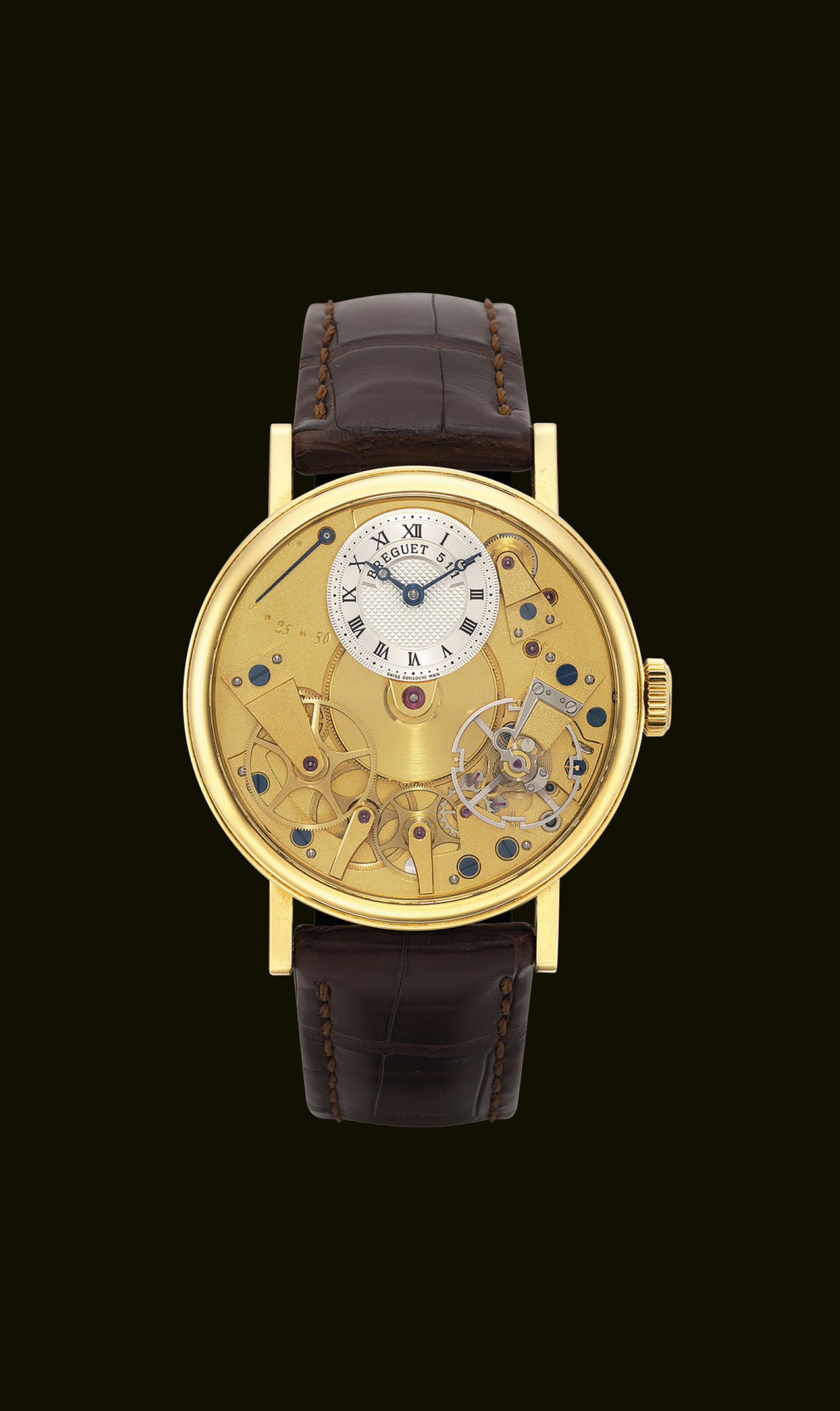 BREGUET. A FINE 18K GOLD SEMI-