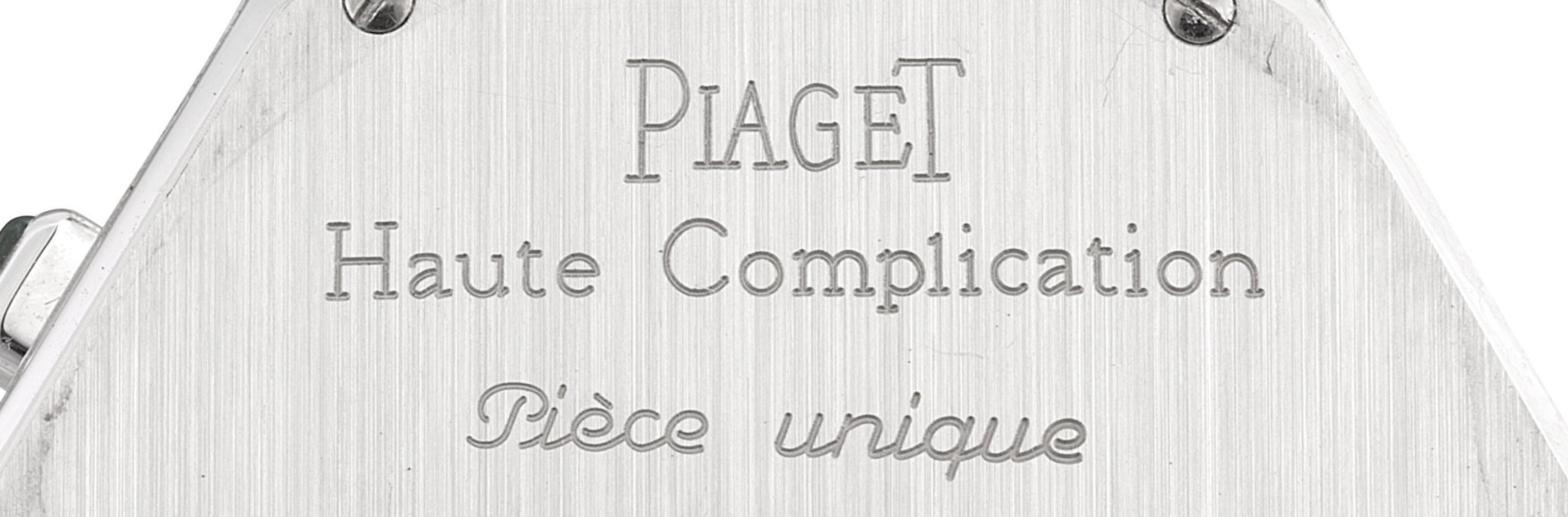 PIAGET. A UNIQUE AND FINE 18K