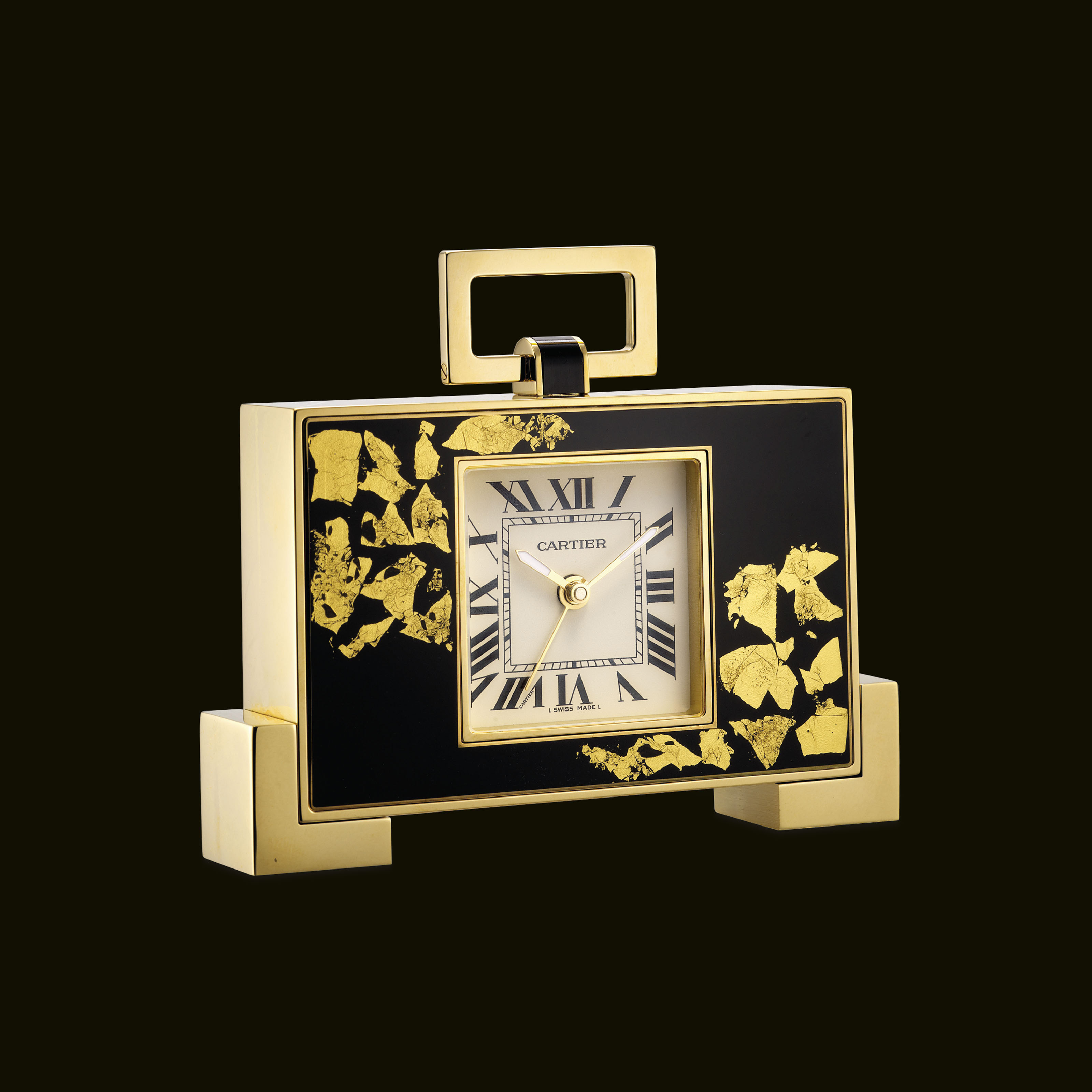 CARTIER. A GILT, LACQUER AND G
