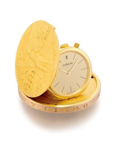 CORUM. AN 18K GOLD FIFTY PESOS