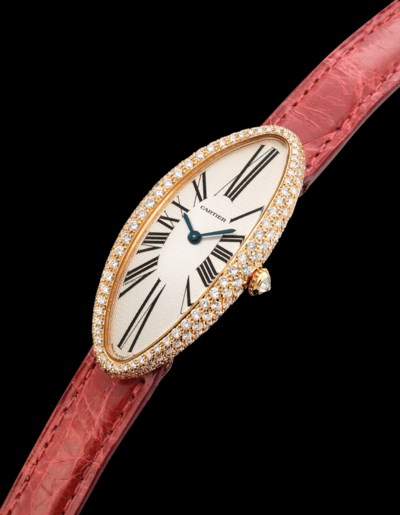 CARTIER. A LADY'S FINE 18K PIN