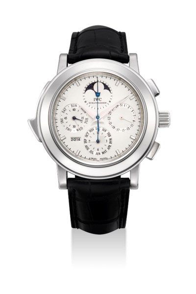 IWC. A VERY FINE AND RARE PLAT
