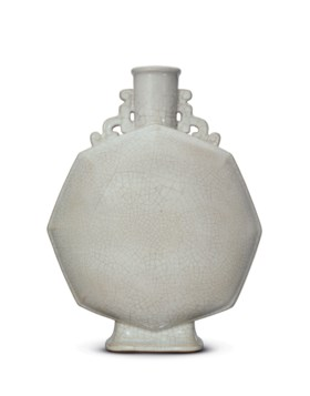 AN EXTREMELY RARE GE-TYPE GLAZED OCTAGONAL MOONFLASK