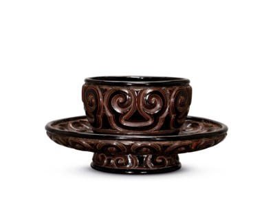 A TIXI LACQUER CUP STAND