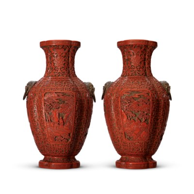A RARE PAIR OF CARVED POLYCHRO