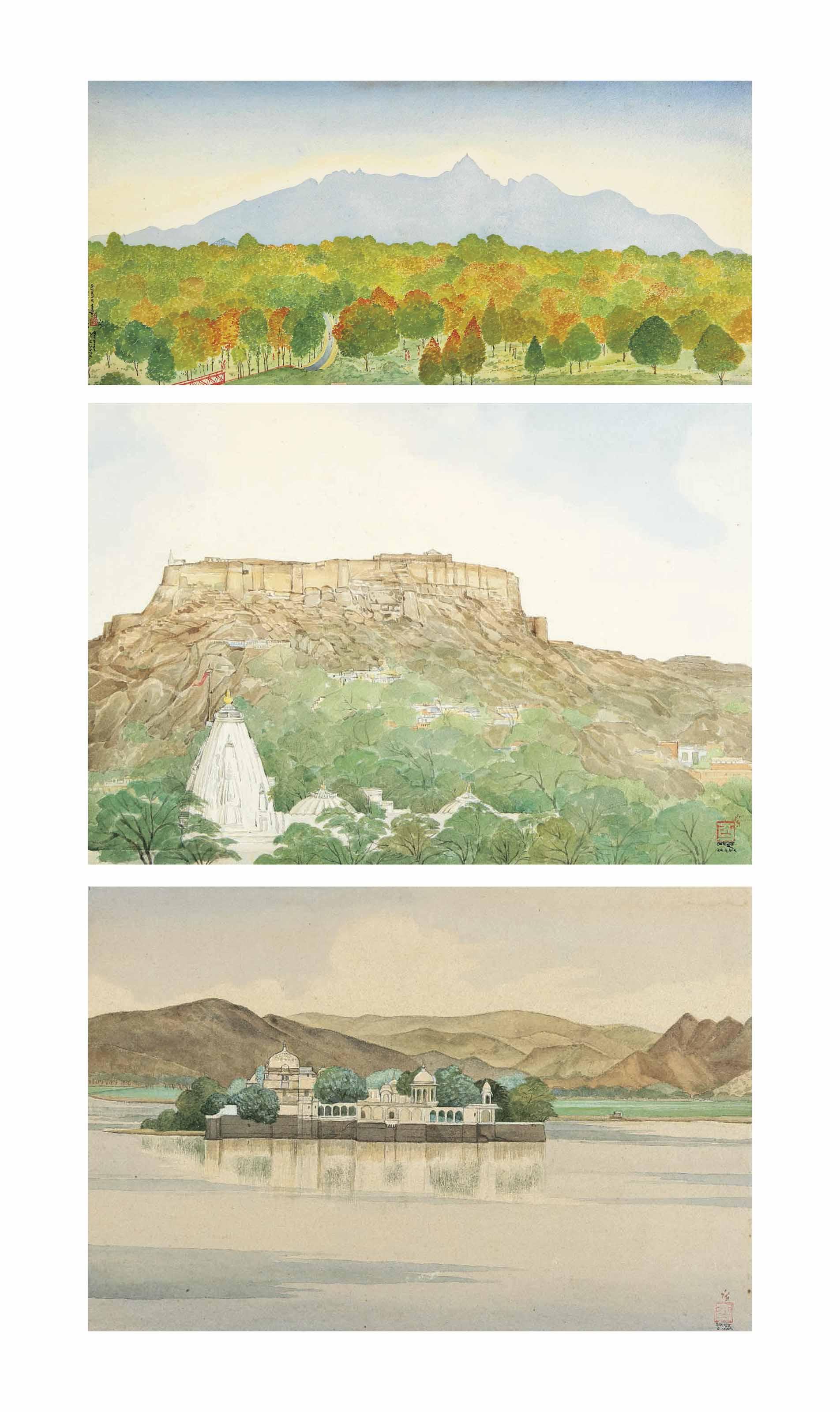 Parshwanath Hills; Mehrangar Fort (Jodhpur); Jagmandir Pichola Lake