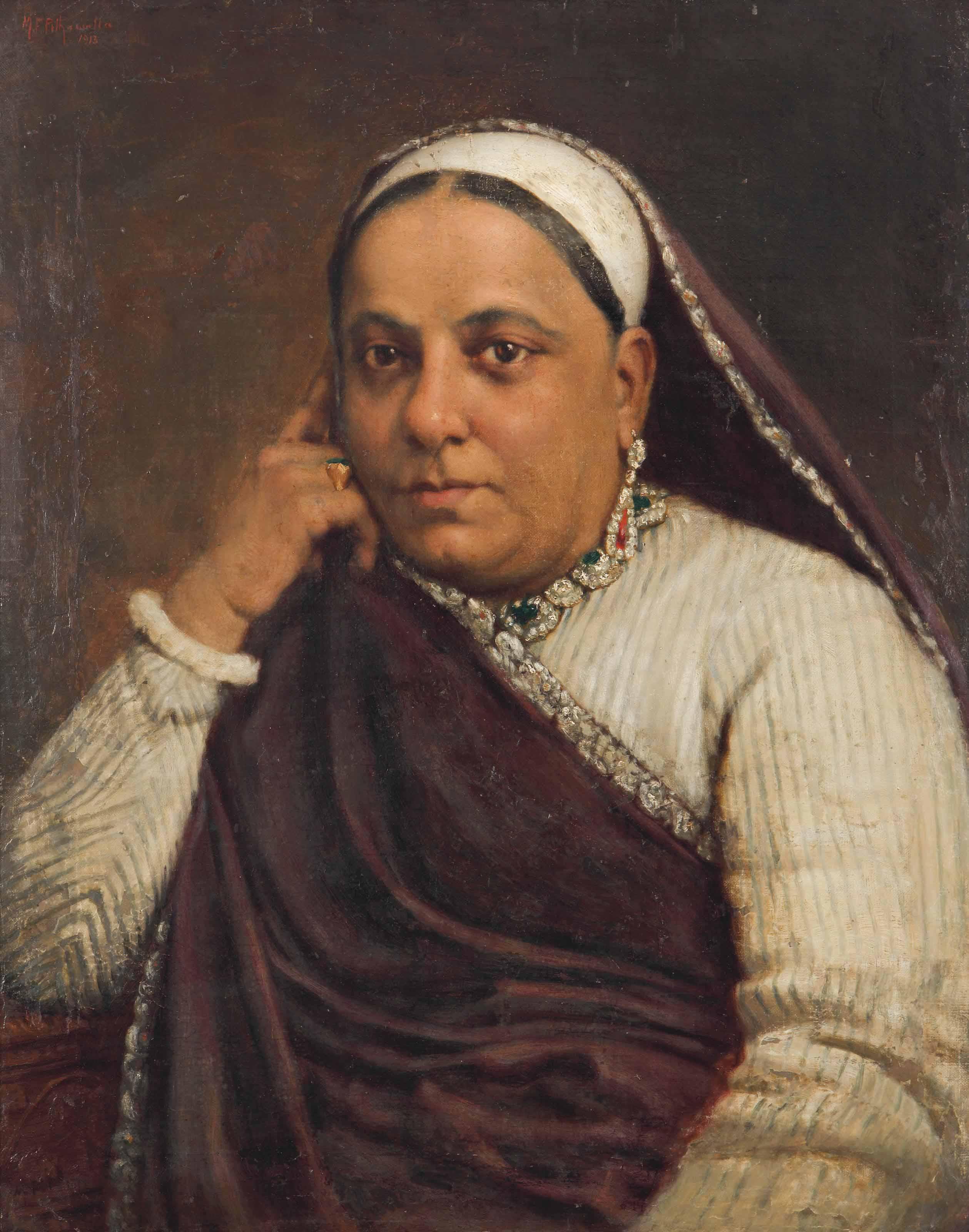 Untitled (Portrait of a Parsi Lady)