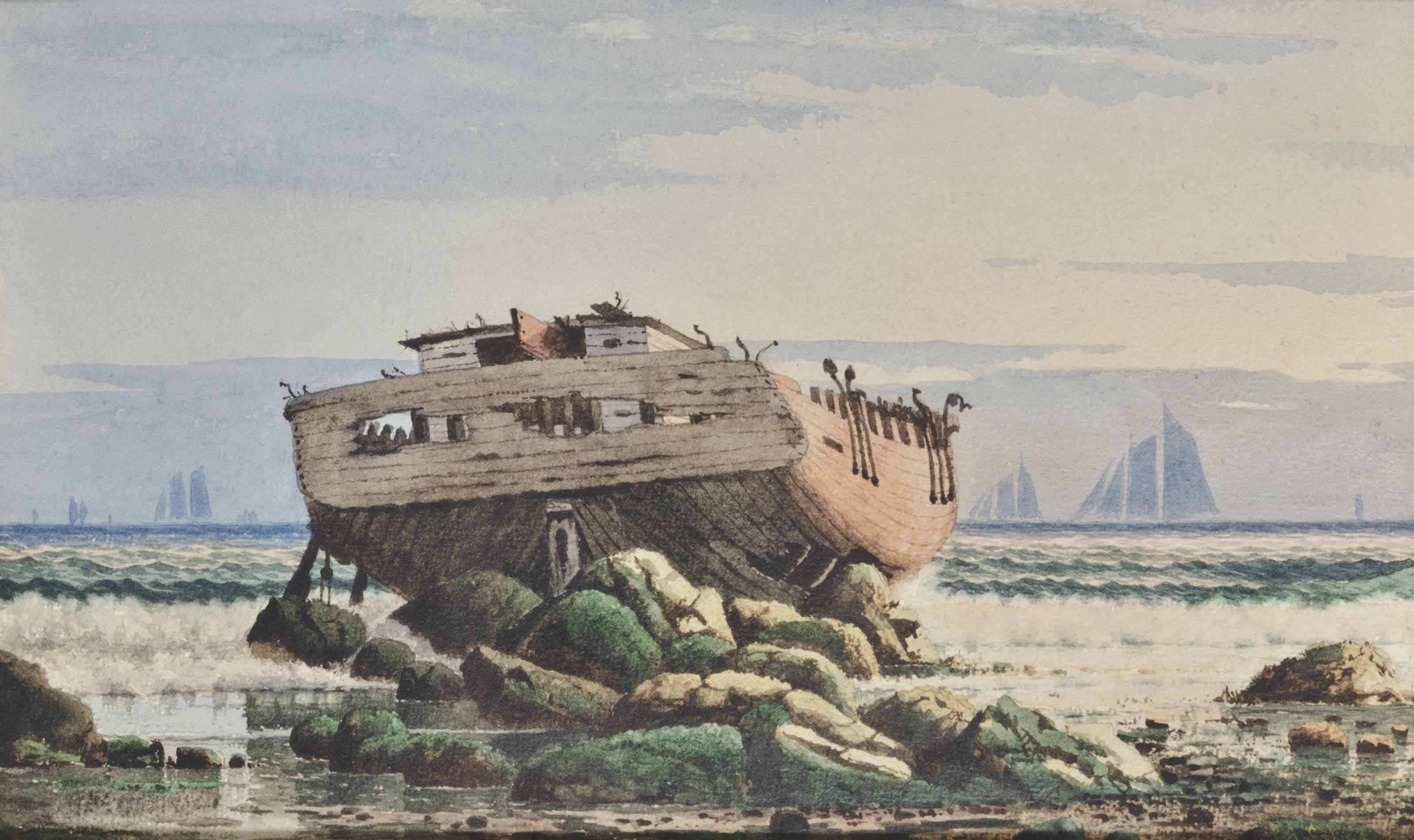 Old Ship at Low Tide