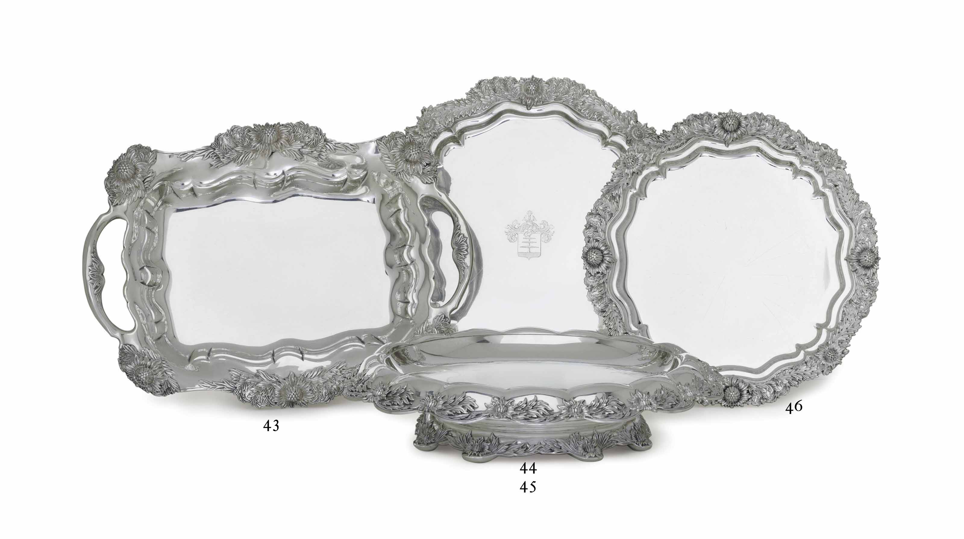 A SILVER FOOTED SALVER