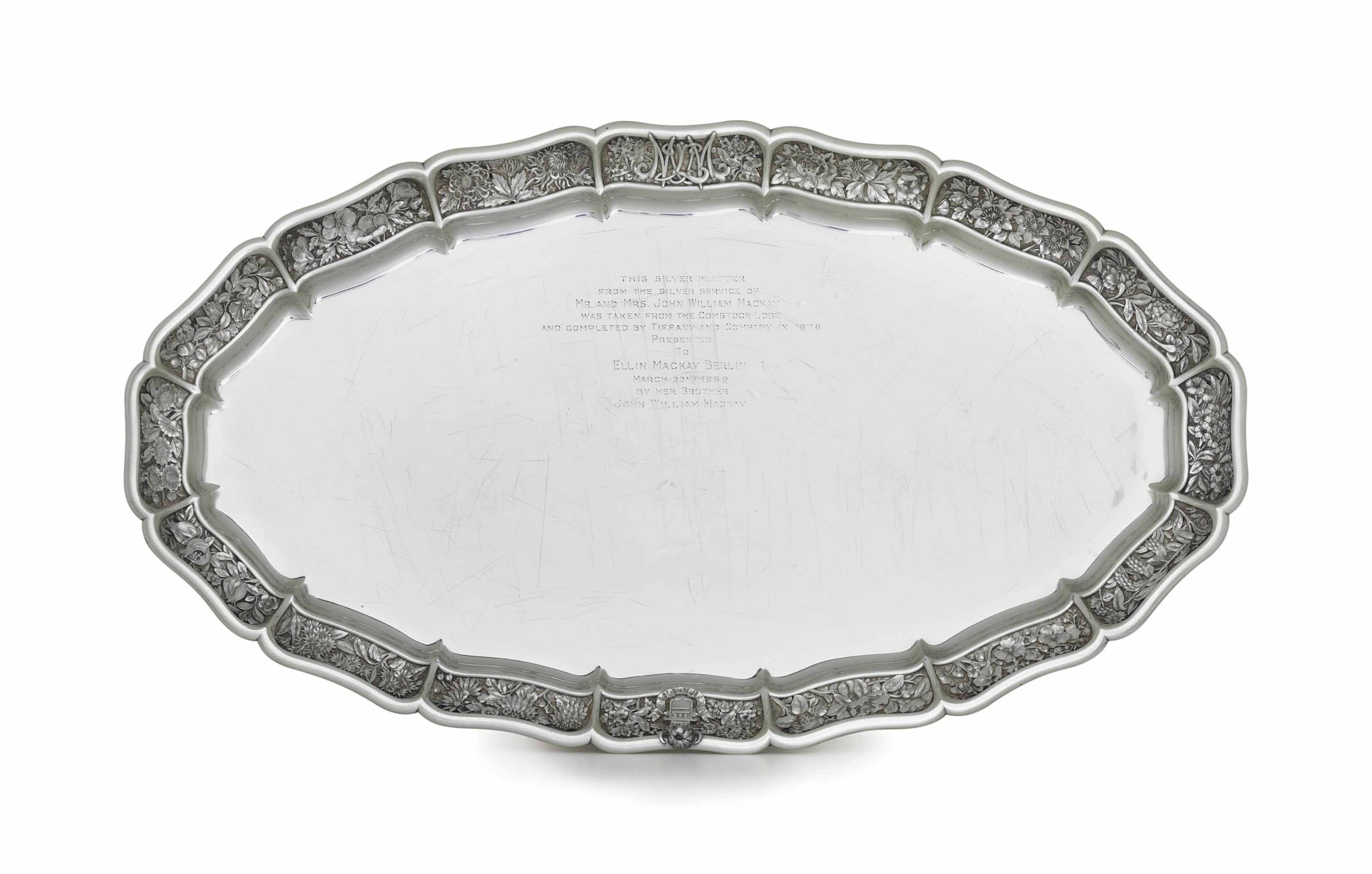 A SILVER MEAT PLATTER FROM THE