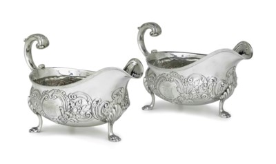 A PAIR OF SILVER SAUCEBOATS