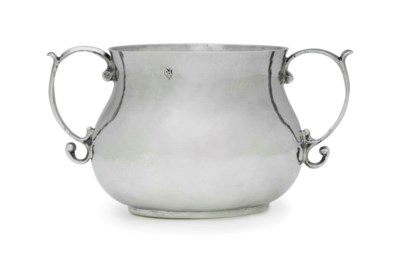A SILVER CAUDLE CUP FROM THE F
