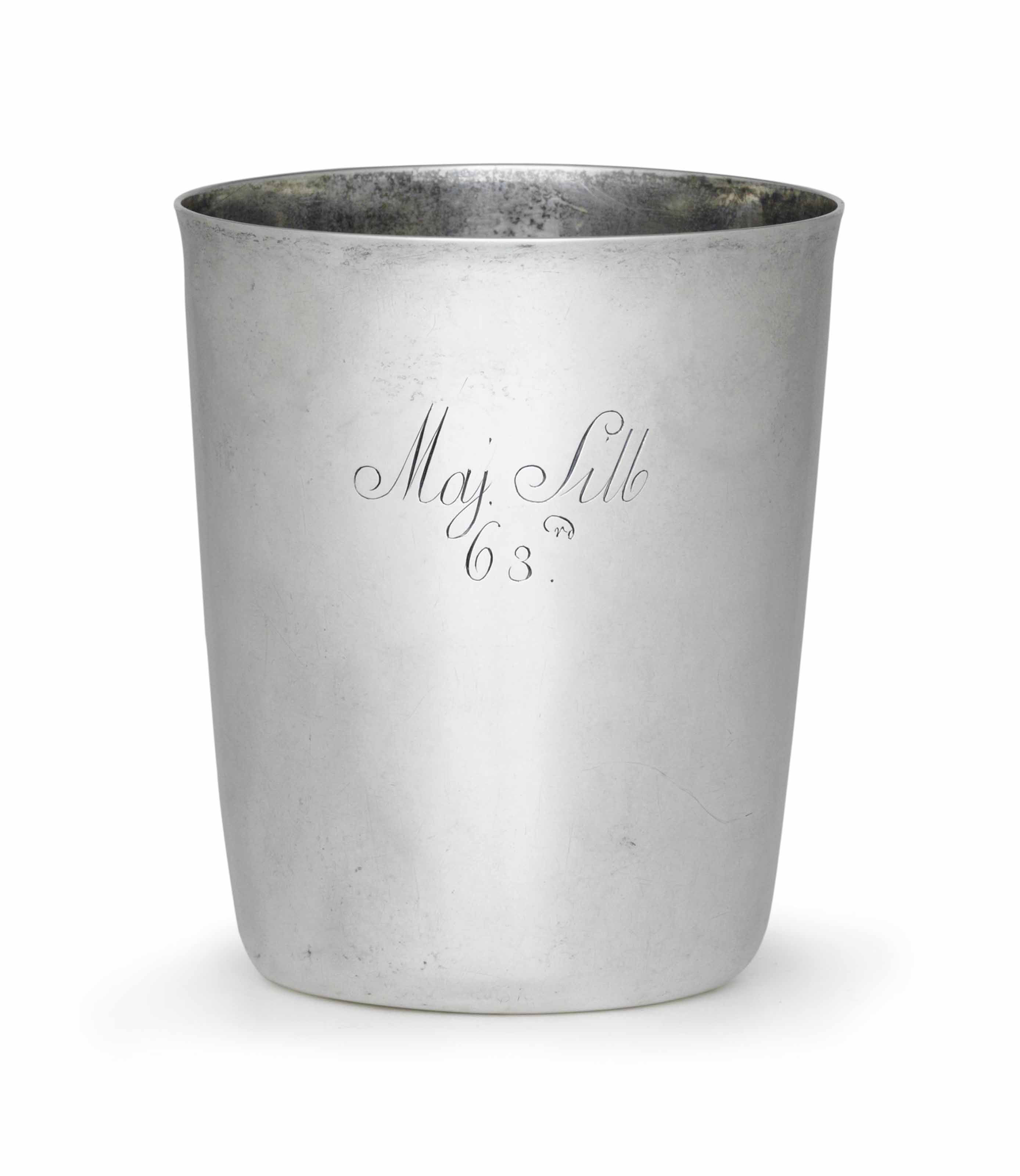 A SILVER BEAKER OF HISTORICAL
