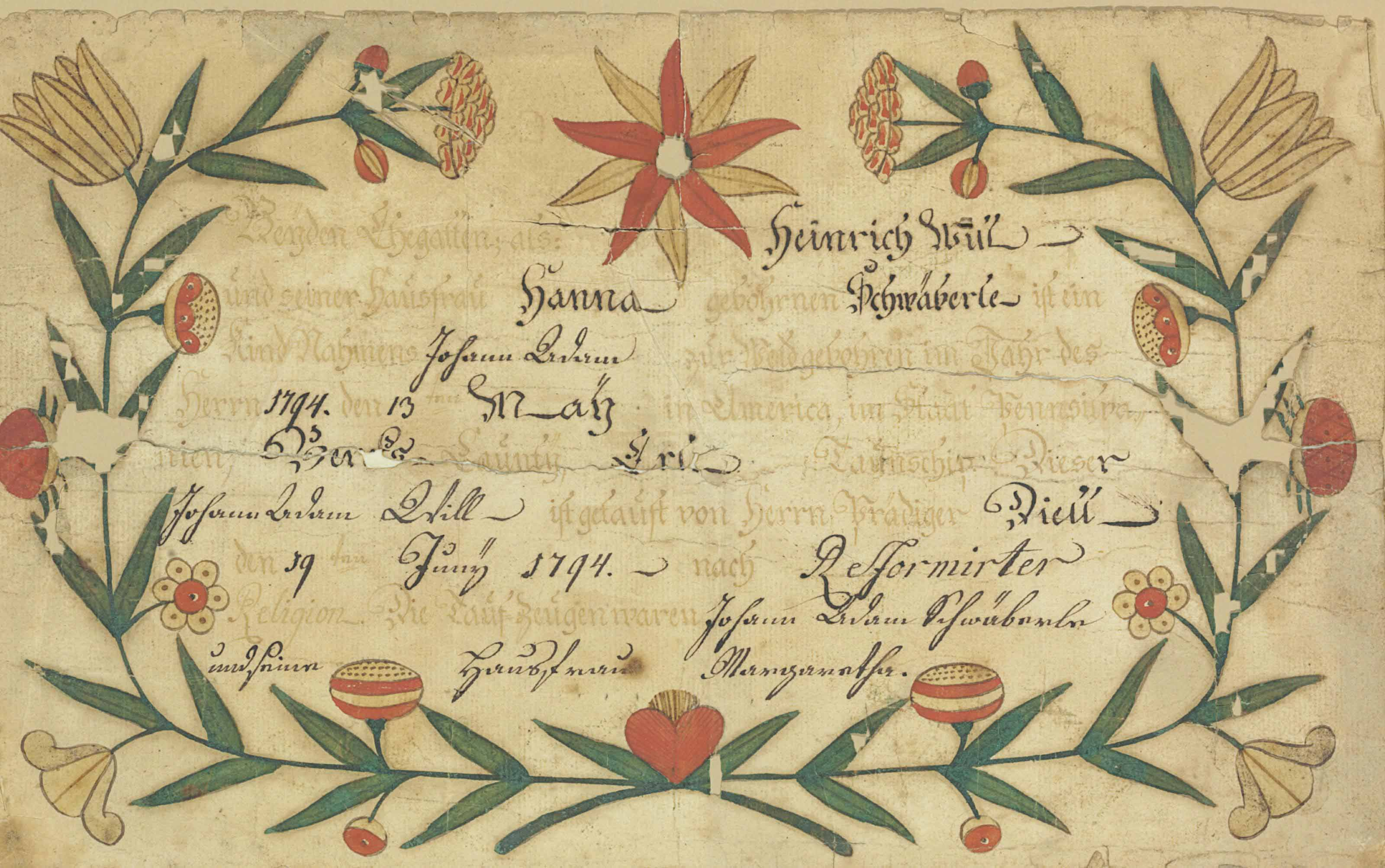 A BIRTH AND BAPTISMAL CERTIFIC