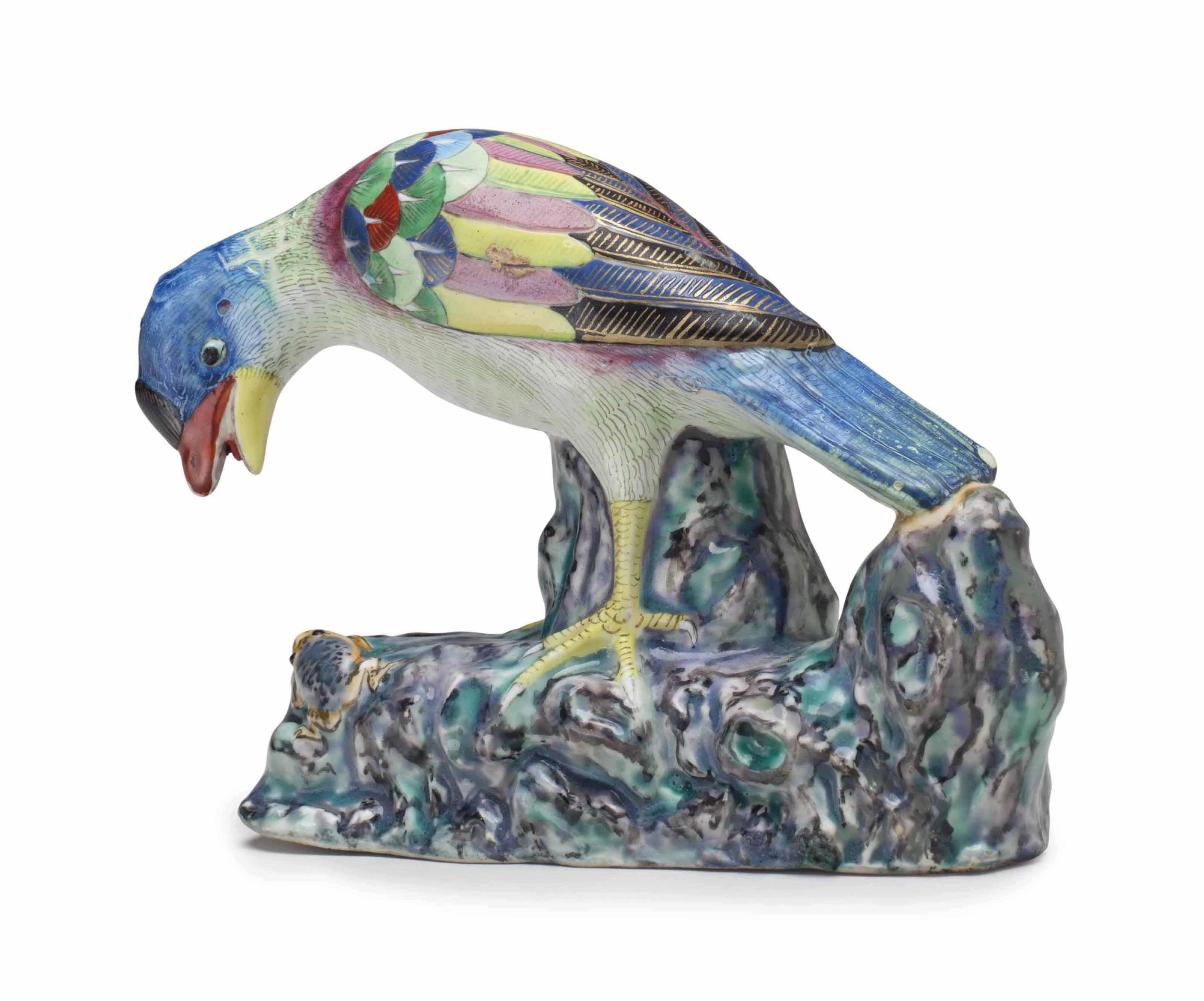 A RARE MODEL OF A JAY BIRD